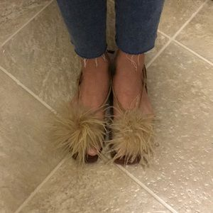 95% NEW FEATHER SANDALS!!